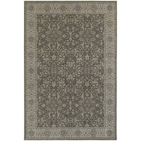 """Updated Persian Grey/ Ivory Rug (6'7 x 9'6) - 6'7"""" x 9'6"""""""