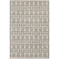 StyleHaven Distressed Leaves Grey/Ivory Indoor-Outdoor Area Rug (6'7x9'6)