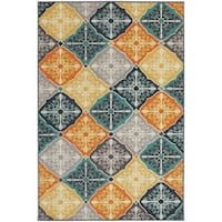 StyleHaven Floral Panel Multi/Blue Indoor-Outdoor Area Rug (3'3x5')