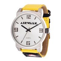 Airwalk Analog Silver and Yellow Watch