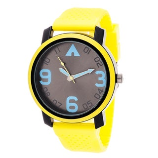 Airwalk Analog Yelllow Case with Yellow Silicone Strap Watch