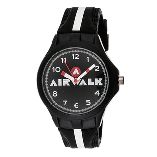 Airwalk Analog Black and White Striped Watch