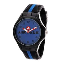Airwalk Analog Blue Dial Black and Blue Watch