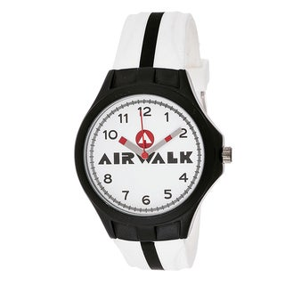 Airwalk Analog White Dial White and Black Watch