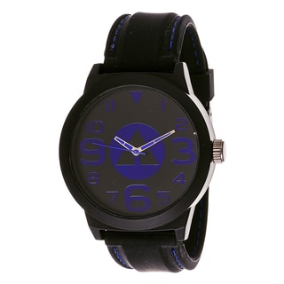 Airwalk Analog Black Dial Blue Accent Watch