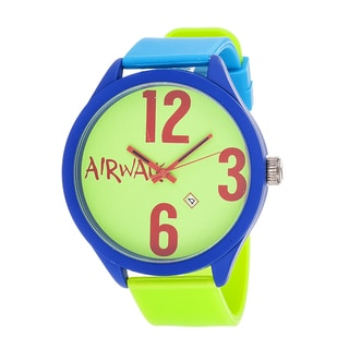 Airwalk Analog Green Dial Blue and Green Strap Watch