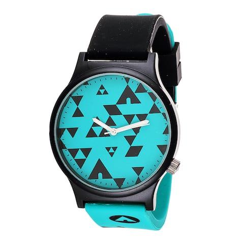 Airwalk Analog Light Blue Dial Black/ Blue Watch