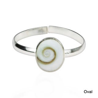 Shiva Swirl Shell .925 Silver Toe or Pinky Ring (Thailand)