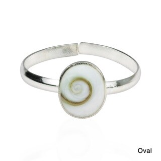 Handmade Shiva Swirl Shell .925 Silver Toe or Pinky Ring (Thailand) (2 options available)