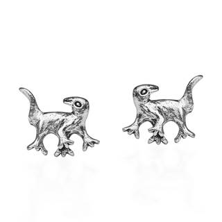 Adorable Baby Dinosaur Sterling Silver Stud Earrings (Thailand)