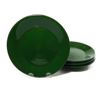 Le Souk Ceramique Set of 4 Solid Green Design Side Plates (Tunisia)