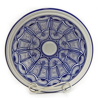 Le Souk Ceramique Qamara Design Small Serving Bowl (Tunisia)