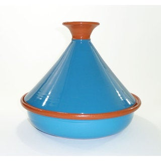 Le Souk Ceramique 12-inch Turquoise Cookable Tagine (Tunisia)