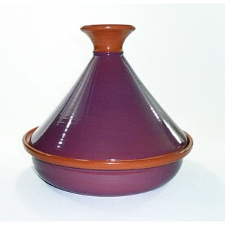 Le Souk Ceramique 12-inch Purple Cookable Tagine (Tunisia)