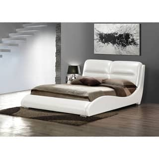 Romney White PU Queen Bed|https://ak1.ostkcdn.com/images/products/9933526/P17089327.jpg?impolicy=medium