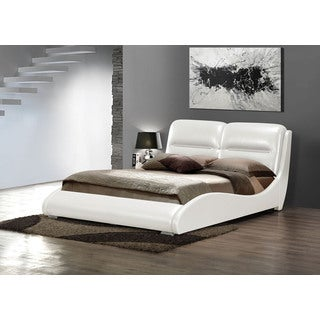 Romney White PU Queen Bed
