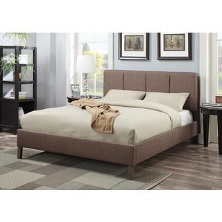 Rosanna Light Brown Linen Queen Bed