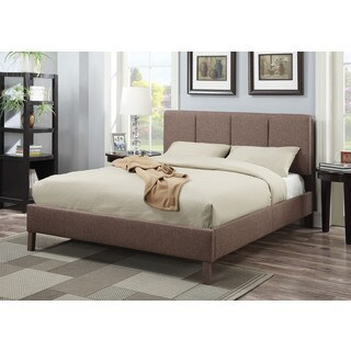 Rosanna Light Brown Linen Queen Bed