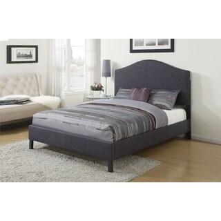 Clyde Grey Linen Queen Bed