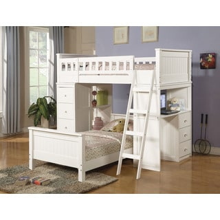 Willoughby White Twin Loft Bed