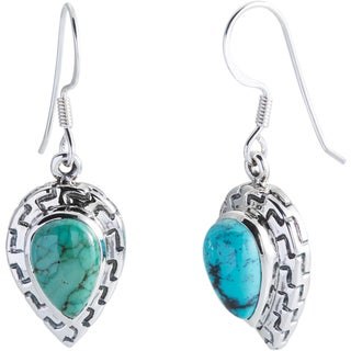 Kele & Co Sterling Silver Aztec Turquoise Earrings
