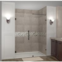 Aston Nautis 56-in x 72-in Completely Frameless Hinged Alcove Shower Door in Chrome