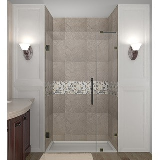 Aston Nautis 29-in x 72-in Completely Frameless Hinged Shower Door in Chrome