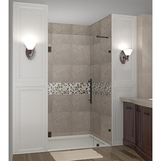 Aston Nautis 31-in x 72-in Completely Frameless Hinged Shower Door in Chrome