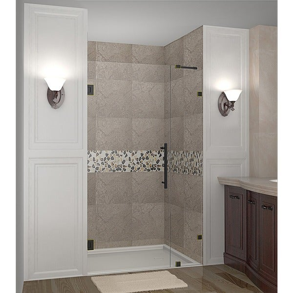 Aston Nautis 32-in x 72-in Completely Frameless Hinged Shower Door in Chrome