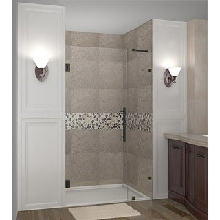 Aston Nautis 34-in x 72-in Completely Frameless Hinged Shower Door in Chrome