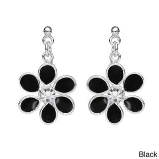 Six Petal Floral Beauty Cubic Zirconia .925 Silver Earrings (Thailand)