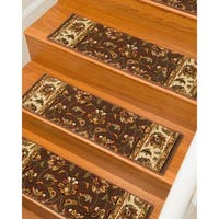 "Natural Area Rugs Summit, Polypropylene Brown/Multi, Handmade Stair Treads Carpet Set of 13 (9""x29"") - 9""x 29"""