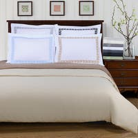 Superior Wrinkle Resistant Embroidered Microfiber 3-piece Duvet Cover Set