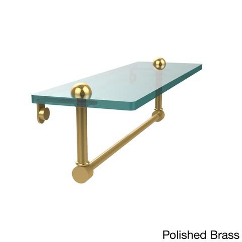 Allied Brass 16-inch Glass Shelf with Towel Bar