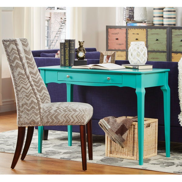 daniella 1drawer wood accent office writing desk by inspire q bold free shipping today