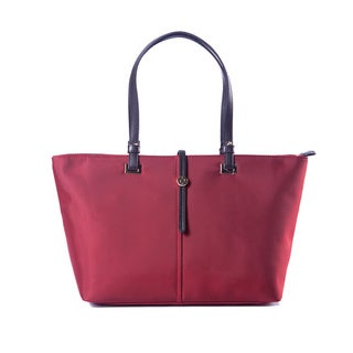 Crimson Red Faux Leather Handbag