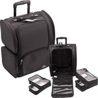 Sunrise Black Soft Sided Professional Rolling Makeup Case