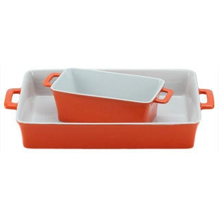 OmniWare Orange Baking Dishes (Set of 2)