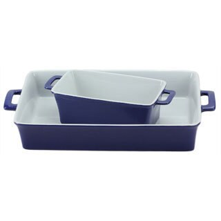OmniWare Cobalt Blue Baking Dishes (Set of 2)