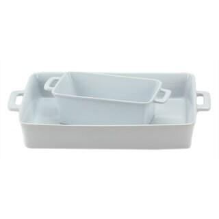 OmniWare White Baking Dishes (Set of 2)