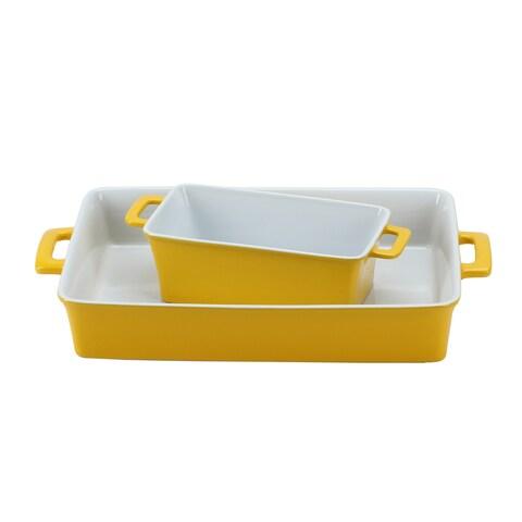 OmniWare Yellow Stoneware Bakers (Set of 2)