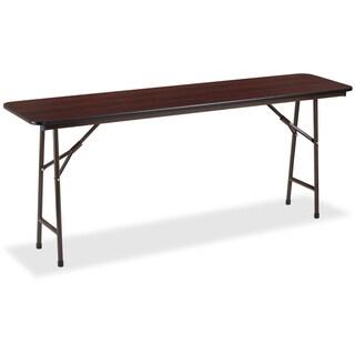 Lorell Mahogany Folding Banquet Table