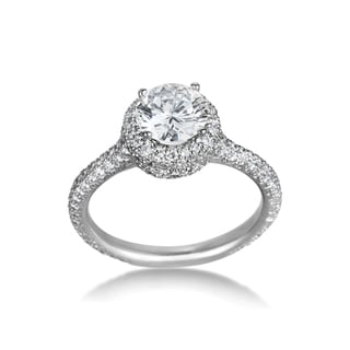 SummerRose Platinum 1.83ct TDW Certified Diamond Engagement Ring