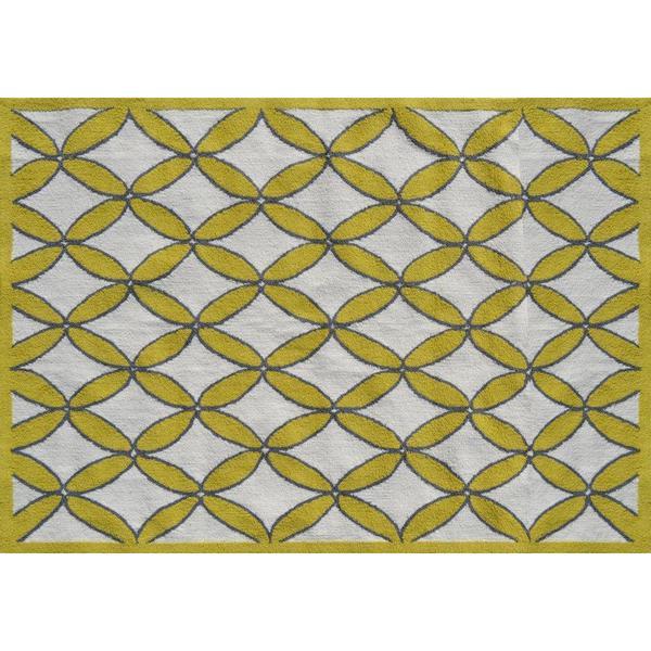 Diamonds Yellow Area Rug (5' x 7')