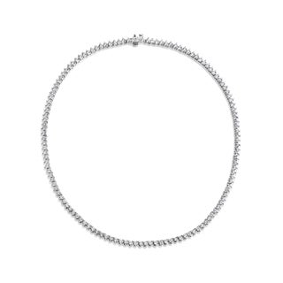 SummerRose 18k White Gold 11ct TDW Three-prong Diamond Tennis Necklace
