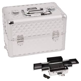 Sunrise Silver Interchangeable Easy Slide Tray Diamond Pattern Professional Makeup Case https://ak1.ostkcdn.com/images/products/9934019/P17089748.jpg?impolicy=medium