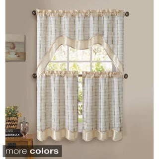 VCNY Sabrina 3-piece Kitchen Curtain Set