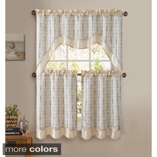 VCNY Sabrina 3-piece Kitchen Curtain Set (More options available)