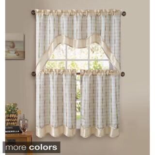 VCNY Sabrina 3-piece Kitchen Curtain Set (2 options available)
