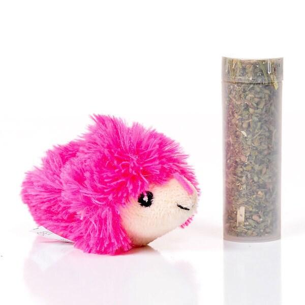 Shop KONG Refillables Pink Hedgehog Cat Toy - Free